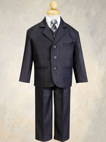 5-Piece Gray Pin Stripe Suit SALE