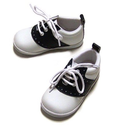 Angel Baby Navy Leather Saddle Shoes