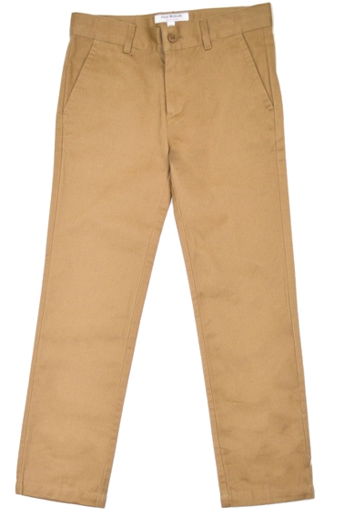 Isaac Mizrahi Slim Cut Cotton Pants - Tan