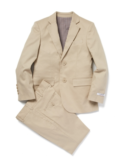 Khaki Tan Cotton Designer Isaac Mizrahi Boys Suit