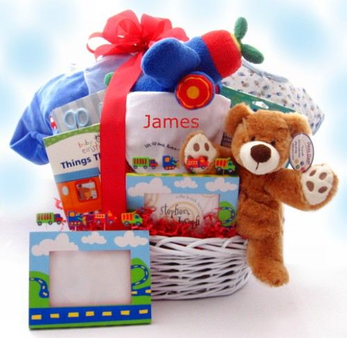 Baby On The Go Personalized Gift Basket