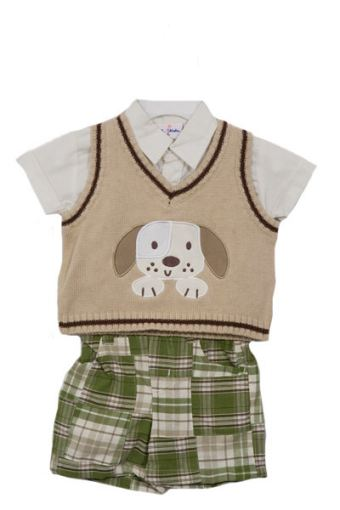 BT Kids Puppy Dog Applique Shorts Set
