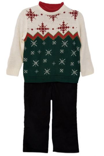 Boy's Hit The Slopes 3 - Piece Holiday Sweater Set SALE