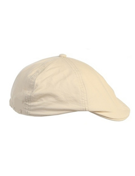 Linen/Cotton French Newsboy Driver Cap - Ivory