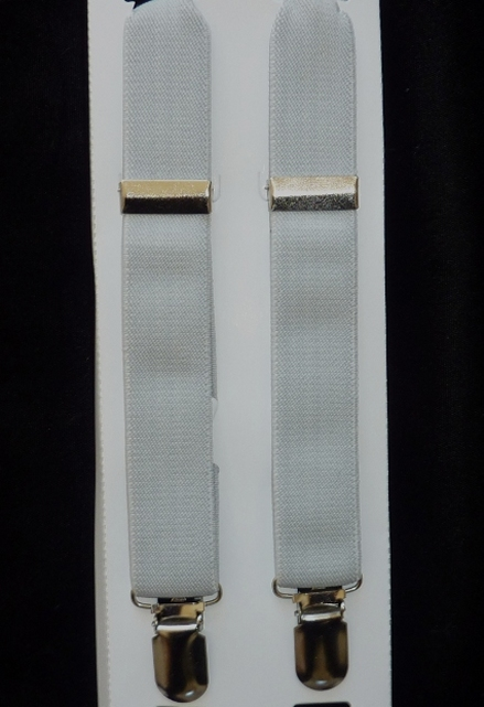 Infant & Baby Suspenders - Silver
