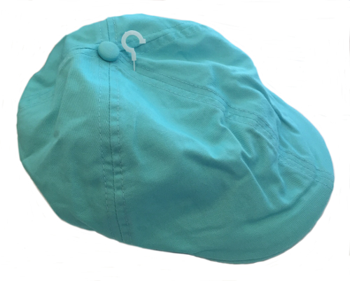 Linen/Cotton French Newsboy Driver Cap - Aqua