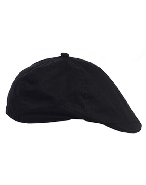 Linen/Cotton French Newsboy Driver Cap - Black