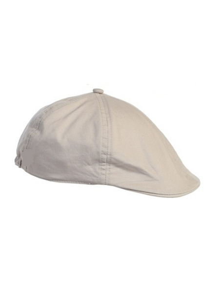 Linen/Cotton French Newsboy Driver Cap - Lt Gray
