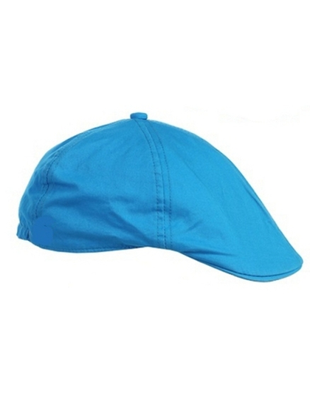 Linen/Cotton French Newsboy Driver Cap - Turquoise