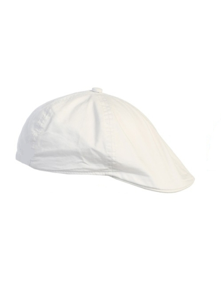 Linen/Cotton French Newsboy Driver Cap - White