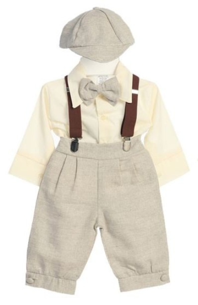 Fouger Sandstone Linen Knicker Set Sale - Sz 6 and 9 mo