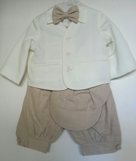 Ivory Eton Suit w Tan Knickerbockers *New*