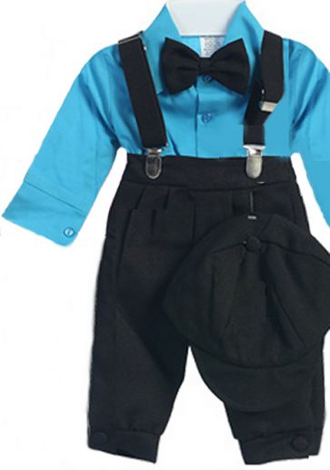 Infant Black Knicker Set with Turquoise Shirt SALE