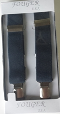 colonial blue elastic suspenders