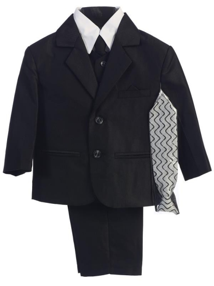 Sale! Lito 6 Pc Herringbone Pattern Boys Suit Sz 6
