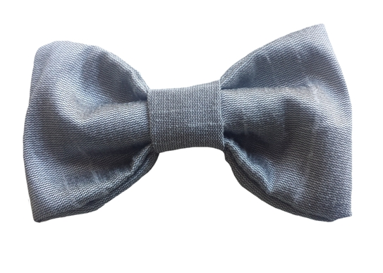 pewter baby silk bow tie