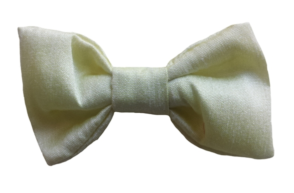 yellow baby silk bow tie