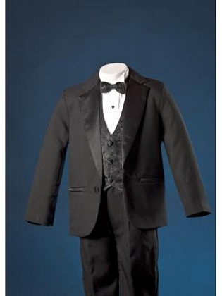 Black Lito 1 Button Tuxedo w Paisley Vest *Sale*
