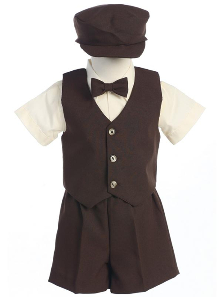 *New* Formal Vest and Shorts Set - Chocolate Brown