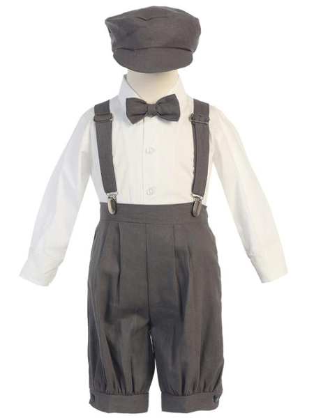 **NEW** Boys Rayon-Linen 5 Piece Knicker Set - Charcoal