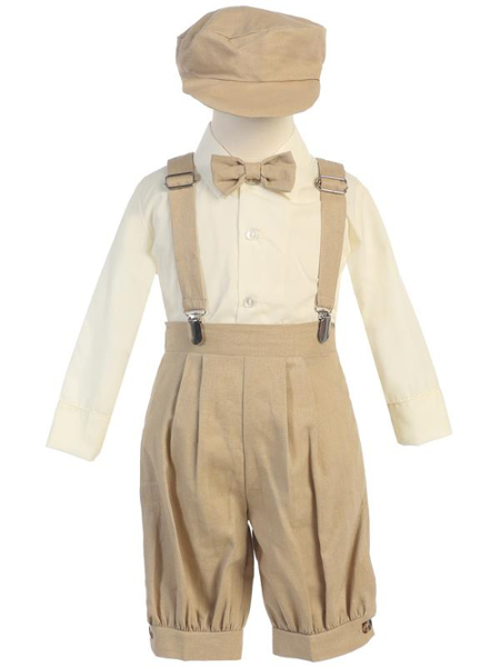 **NEW** Boys Rayon-Linen 5 Piece Knicker Set - Khaki