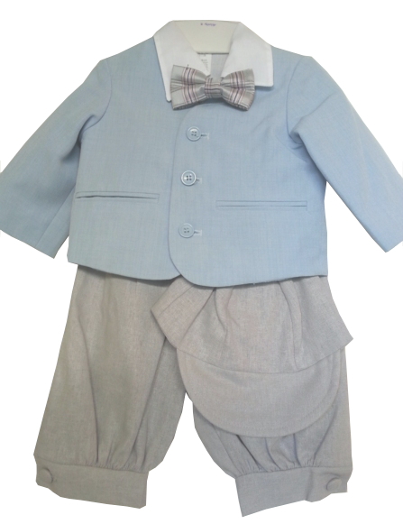 *Exclusive* Eton Blue Jacket With Lt Gray Knickerbockers