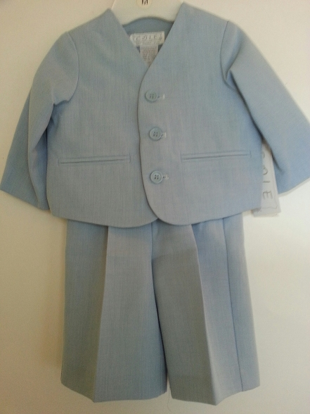 3 Pc Eton Suit w Walking Shorts - Blue