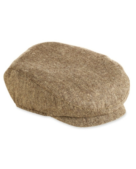 Brown Tweed Newsboy Cap - Infants