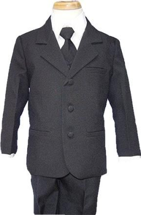 Close-Out  Peanut Butter Boys Black 5-Piece Suit  One size 10 left!