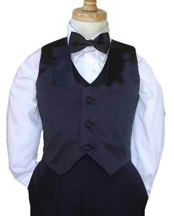 black vest with bow tie
