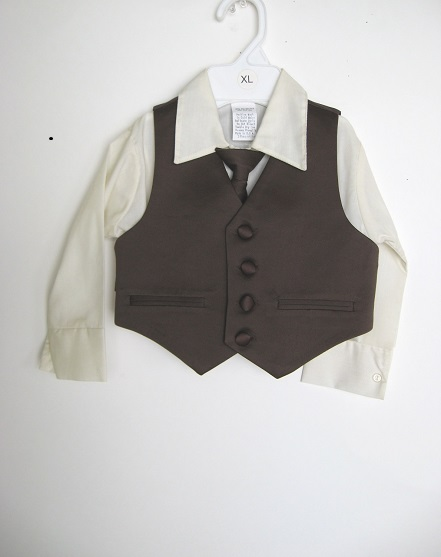 One-Of-A-Kind 3 Pc Vest, Tie & Shirt Set- 18 mo.