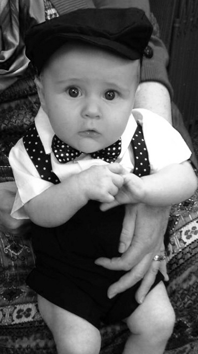 Suspenders & Bow Tie Set - Polka Dot