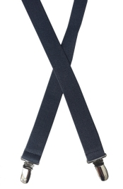 dark gray elastic suspenders