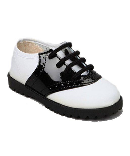 Black & White Patent Saddle Shoes *Sale*