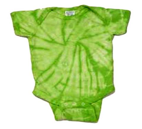Tie Dye Lime Spider Infant Creeper