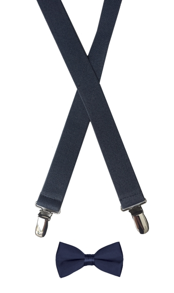 Suspenders & Bow Tie Set - Navy *Sale*