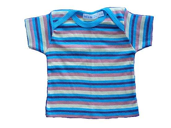 Under The Nile 100% Organic Egyptian Cotton Striped Tee 3-6 mo