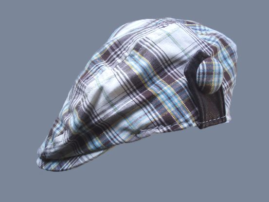 Cotton Brown Plaid Toddler Ivy Driver Cap SALE