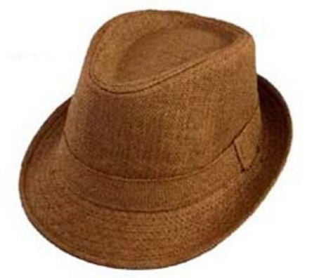 Boys Paper Straw Fedora - Brown