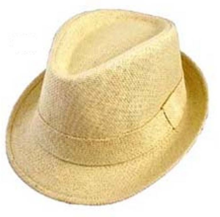 Boys Cotton Blend Fiber Fedora - Corn Husk Beige