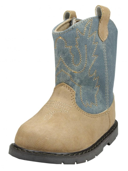 Baby Deer Infant Toddler Boys Western Cowboy Boots - Denim