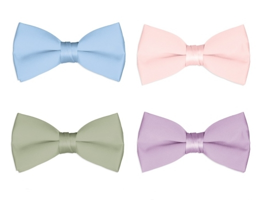 Boys Bow Ties Set of 4 - Pastel Colors