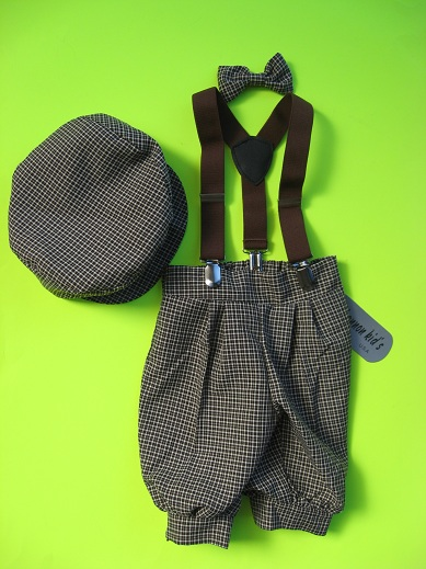 One of a Kind  Brown Check Knicker Set