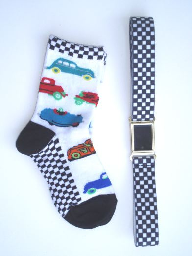 Car Socks And Racer Checks Magnetic Belt Gift Set