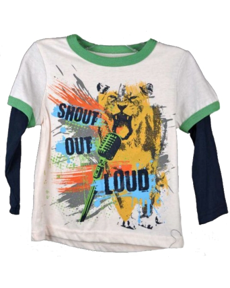 Freestyle Revolution Toddler Boys Shout Out Loud Layer Jersey Tee