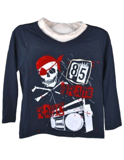 Freestyle Revolution Toddler Boys Pirate Long Sleeve Jersey Tee