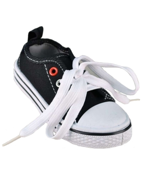 **Blow-Out Sale** Retro Boys Black Canvas Low Top Sneakers Shoes