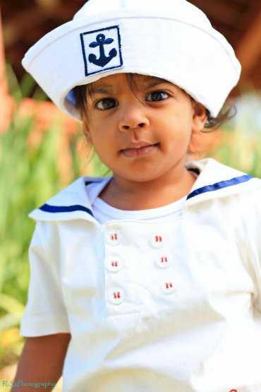 Betty Ann Anchor Applique Boy's Sailor Hat