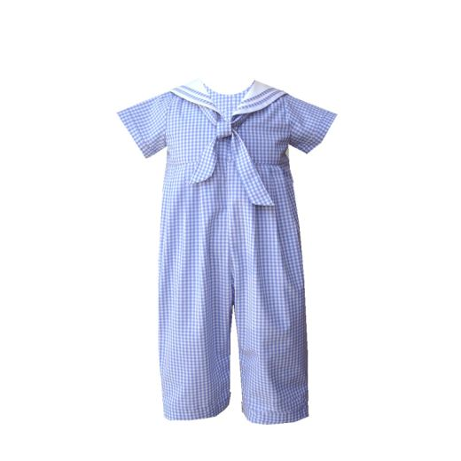 Infant Boys Brother Sister Easter Sailor Romper Outfit
