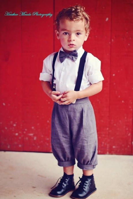 Boys Charcoal Vintage Knickerbocker Set